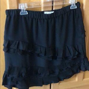 Banana Republic black silk skirt